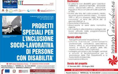 Dall'Istituto Santachiara progetti speciali per l'occupazione